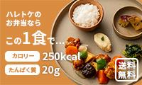 カロリー250kalの栄養バランス冷凍弁当【ハレトケ】